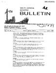 Wetlands Board Bulletin Vol III., No. 1