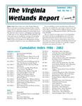The Virginia Wetlands Report Vol. 18, No. 2, Cumulative Index 1986-2002 by Virginia Institute of Marine Science