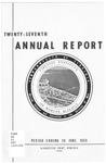 Virginia Institute of Marine Science Twenty-Seventh Annual Report