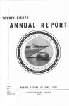 Virginia Institute of Marine Science Twenty-Eighth Annual Report