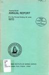 Virginia Institute of Marine Science Twenty-Ninth Annual Report