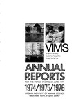 Virginia Institute of Marine Science Thirty-Third, Thirty-Fourth, and Thirty-Fifth Annual Reports