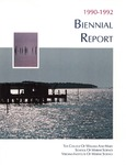 Virginia Institute of Marine Science 1990-92 Biennial Report by Virginia Institute of Marine Science
