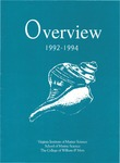 Overview 1992-1994 Virginia Institute of Marine Science by Virginia Institute of Marine Science
