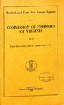 Fortieth and Forty-first Annual Reports of the Commission of Fisheries of Virginia
