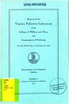 Report of the Virginia Fisheries Laboratory of the College of William and Mary and the Commission of Fisheries of Virginia (1941-1943)