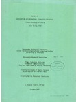 Pertintent Statistical Data for the Management of Maryland and Virginia Fisheries